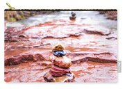 Rainy Day Stone Cairns In Sedona Carry-all Pouch