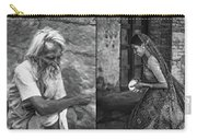 Rajasthan Collage Bw Carry-all Pouch