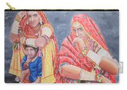 Rajasthani Ladies With Traditional Jewelry Carry-all Pouch