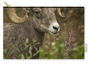 Ram Eating Fireweed Cropped Carry-all Pouch
