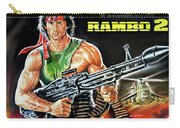 Rambo 2 Sylvester Stallone Paintinf Carry-all Pouch