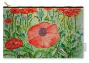 Ramonas Poppies Carry-all Pouch
