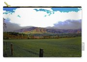 Range Neath The Mountain Carry-all Pouch by DigiArt Diaries by Vicky B Fuller