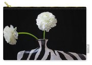 Ranunculus In Black And Whie Vase Carry-all Pouch