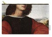 Raphael Portrait Of Agnolo Doni Carry-all Pouch