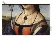 Raphael Portrait Of Maddalena Doni Carry-all Pouch