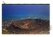 Rare Aerial View Of Extinct Volcanic Crater In Hawaii.  Carry-all Pouch