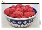 Raspberries In Polish Pottery Bowl  Carry-all Pouch
