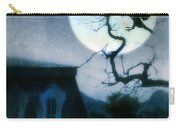 Raven Landing On Branch In Moonlight Carry-all Pouch