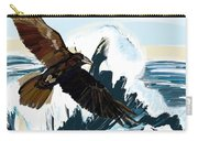 Ravens And The Stormy Sea Carry-all Pouch