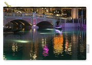 Razzle Dazzle - Colorful Neon Lights Up Canals And Gondolas At The Venetian Las Vegas Carry-all Pouch