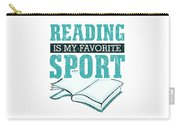 Reading Is My Favorite Sport Light Blue Carry-all Pouch