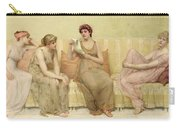 Reading The Story Of Oenone Carry-all Pouch by Francis Davis Millet