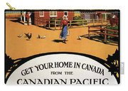 Ready Made Farms In Western Canada - Canadian Pacific - Retro Travel Poster - Vintage Poster Carry-all Pouch