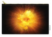 Realistic Fiery Explosion, Orange Color With Sparks Isolated On Black Background Carry-all Pouch