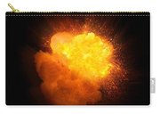 Realistic Fire Explosion, Orange Color With Smoke And Sparks Carry-all Pouch