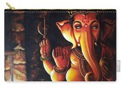Portrait Of Lord Ganapathy Ganesha Carry-all Pouch