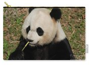 Really Cute Giant Panda Bear With Bamboo Carry-all Pouch