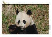 Really Great Panda Bear Chomping On A Fistful Of Bamboo Carry-all Pouch