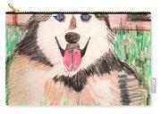 Rebel The Husky  Carry-all Pouch