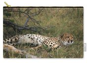 Reclining Cheetah Watching Carry-all Pouch