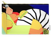 Reclining Nude In Blue And Red Carry-all Pouch