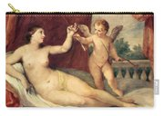 Reclining Venus With Cupid Carry-all Pouch