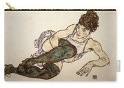 Reclining Woman With Green Stockings Carry-all Pouch