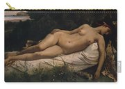 Recumbent Nymph Carry-all Pouch by Anselm Feuerbach