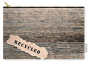 Recycled Wood Carry-all Pouch