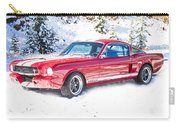 Red 1966 Ford Mustang Shelby Carry-all Pouch
