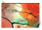Red Abstract Art - Decadence - Sharon Cummings Carry-all Pouch