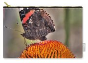 Red Admiral Butterfly On Coneflower              July              Indiana Carry-all Pouch