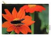 Red Admiral Nectaring On Tithonia Carry-all Pouch