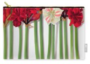 Red Amaryllis With Butterfly Carry-all Pouch