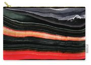 Red And Black Art - Fire Lines - Sharon Cummings Carry-all Pouch