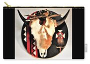 Red And Black Buffalo Design Carry-all Pouch