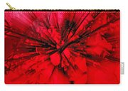 Red And Black Explosion Carry-all Pouch