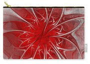 Red And Black  -f D- Carry-all Pouch