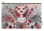 Red And Black -f E- Carry-all Pouch