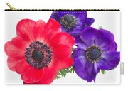Red And Blue Anemone Flowers  Carry-all Pouch