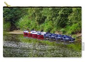 Red And Blue Boats On The River Coquet Carry-all Pouch