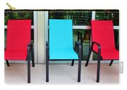 Red And Blue Chairs Carry-all Pouch