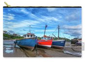 Red And Blue Fishing Boats Tenby Port Carry-all Pouch