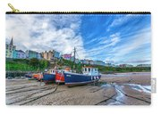 Red And Blue Fishing Trawler In Low Tide Carry-all Pouch