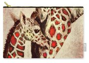 Red And Brown Giraffes Carry-all Pouch