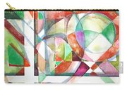 Red And Green Carry-all Pouch by Mindy Newman