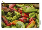 Red And Green Peppers Carry-all Pouch
