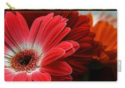 Red And Orange Florals Carry-all Pouch
