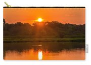 Red And Orange Jungle Sunset Carry-all Pouch